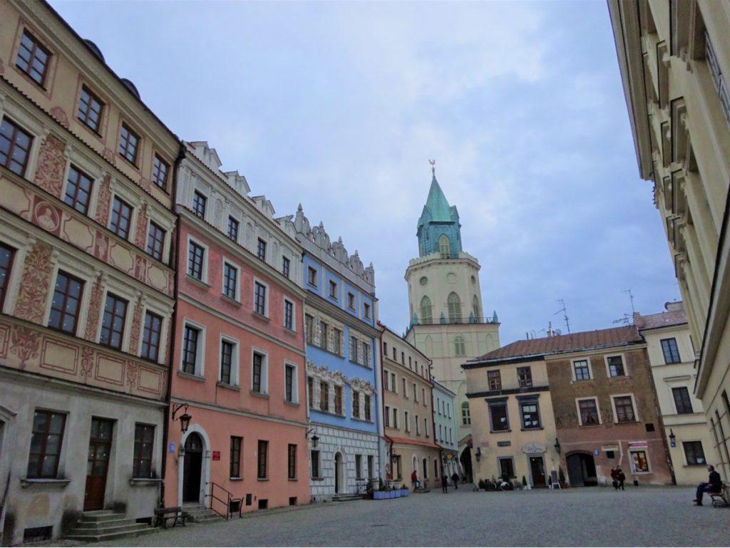 Centro histórico de Lublim, no leste da Polônia
