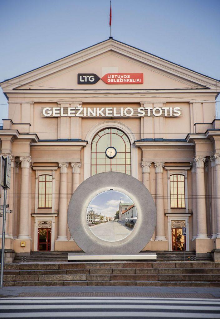 Túnel virtual na estação de Vilnius